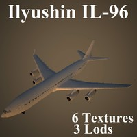 ilyushin low-poly 3d model