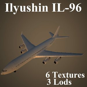 ilyushin low-poly 3d model