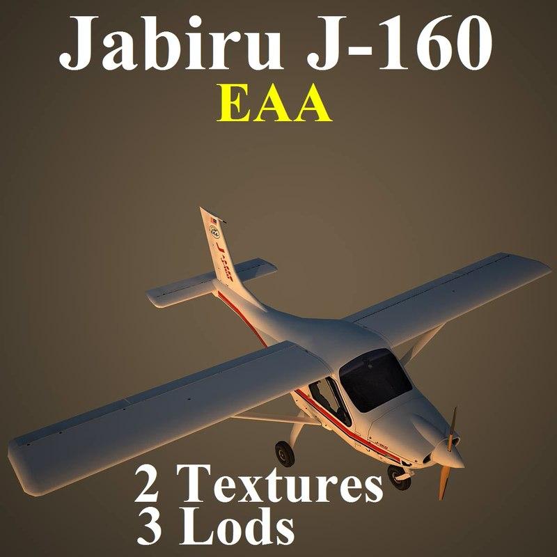 jabiru eaa aircraft 3d max