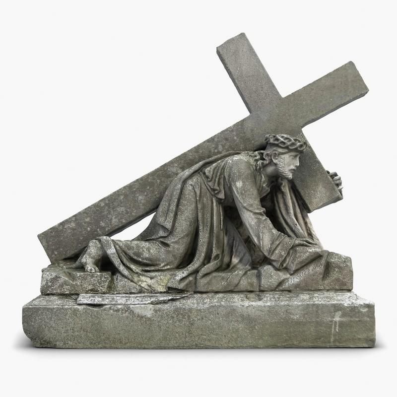 3d sculpture jesus 2 model