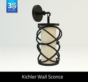 kitchler wall sconce 3d model