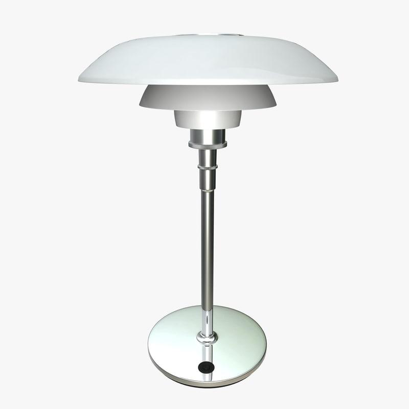 3d louis poulsen table lamp