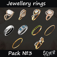 Jewellery Rings Pack 3
