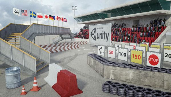 3d model race track construction kit: