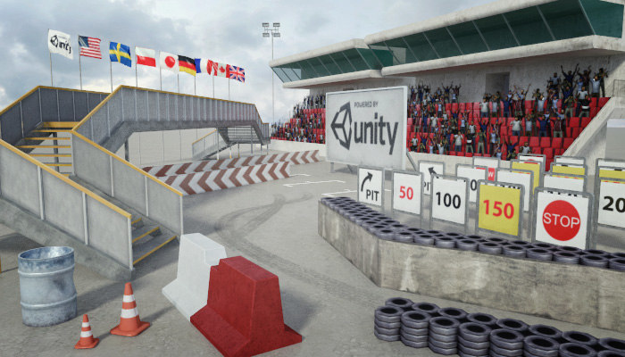 3d model race track construction kit: