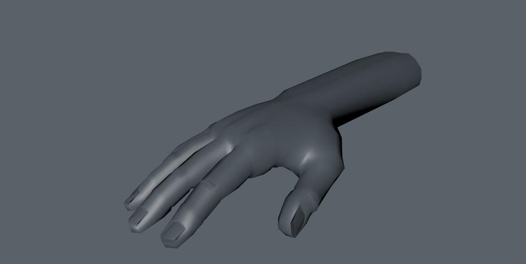 hand rigged 3d fbx