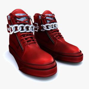 giuseppe red shoes 3d obj