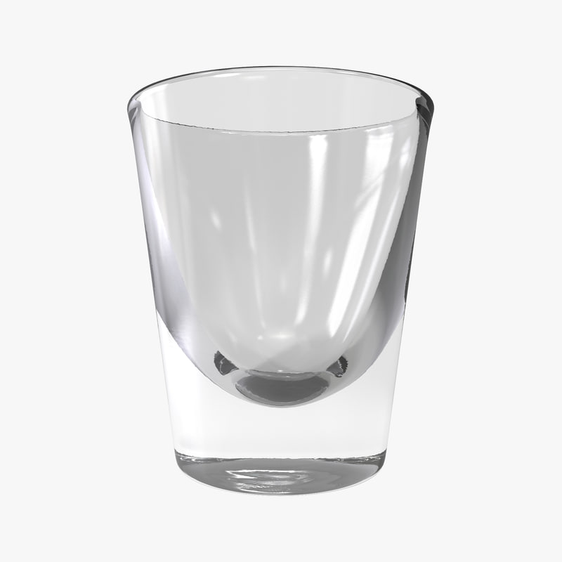 3d model of shot glass