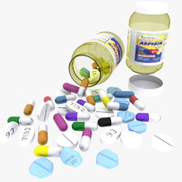 3d medicine bottle model