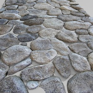 3d stone block pavement
