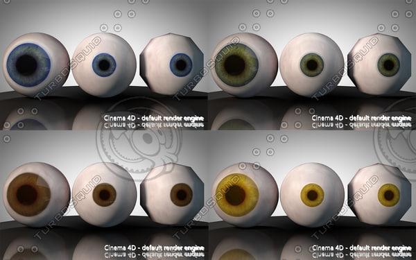 3d model eye yellow