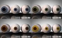 3d model eye yellow