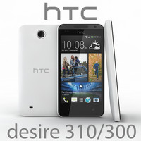 3d realistic htc desire 310 model