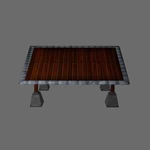 viewing table 3d obj