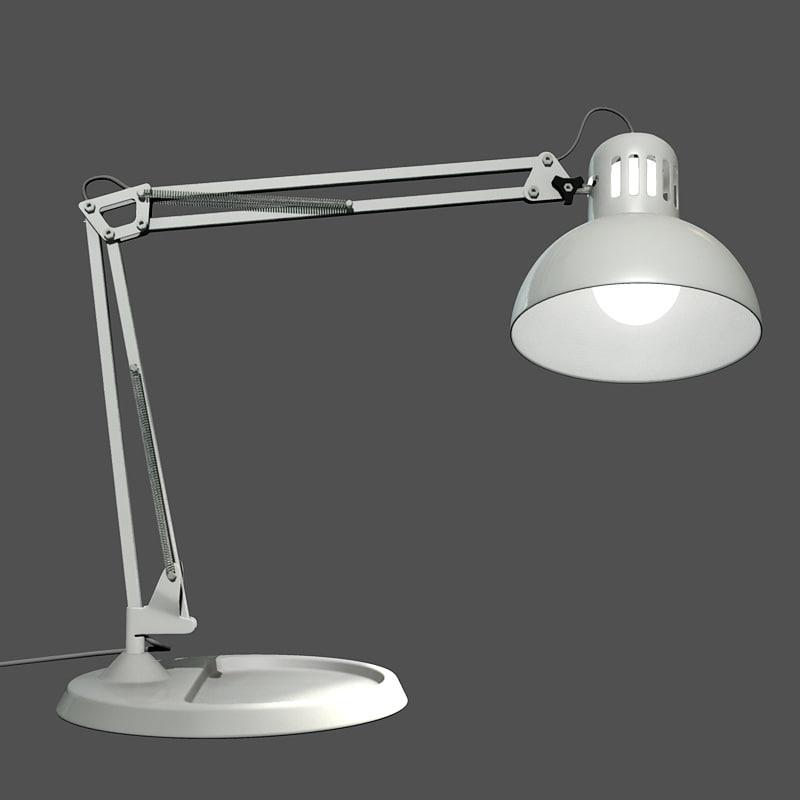 3d desktop lamp lighting model
