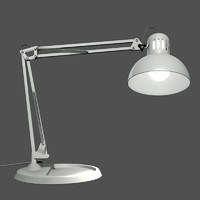 3d desktop lamp lighting model