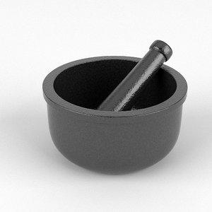 3dsmax mortar pestle
