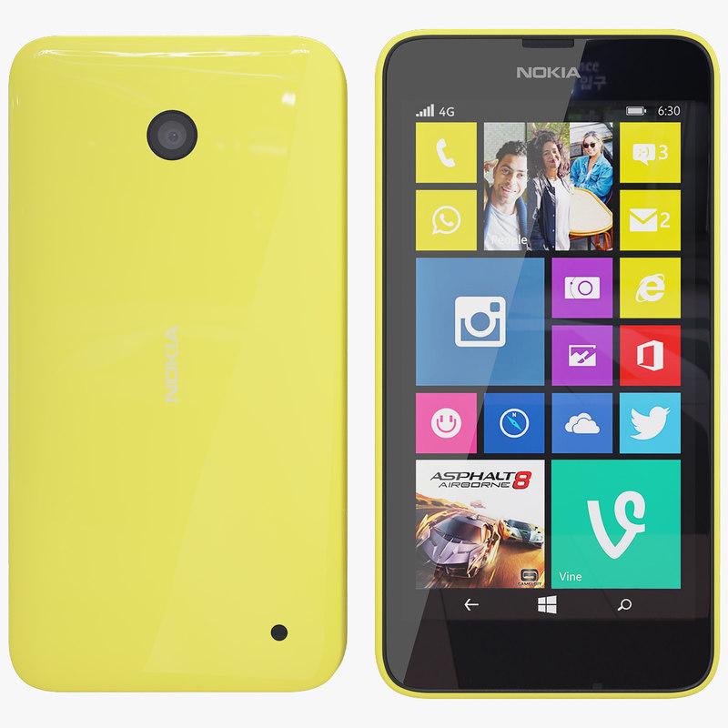 3dsmax nokia 635 yellow