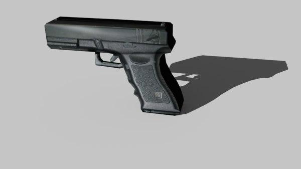 free simple gun 3d model