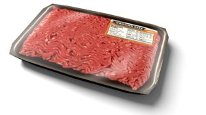 3d model ground beef