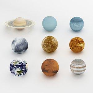 3d planets solar model