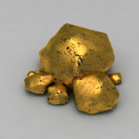 3d gold nuggets