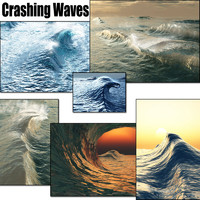 3d model crashing waves vue