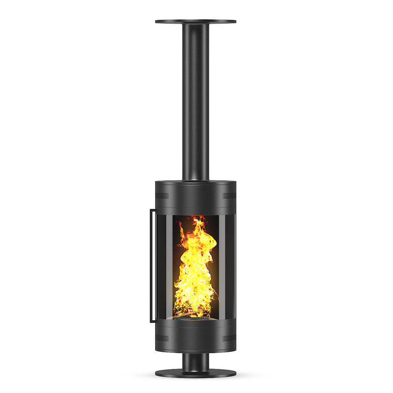 metal fireplace 3d model