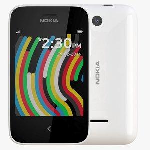 nokia asha 230 white 3d dxf