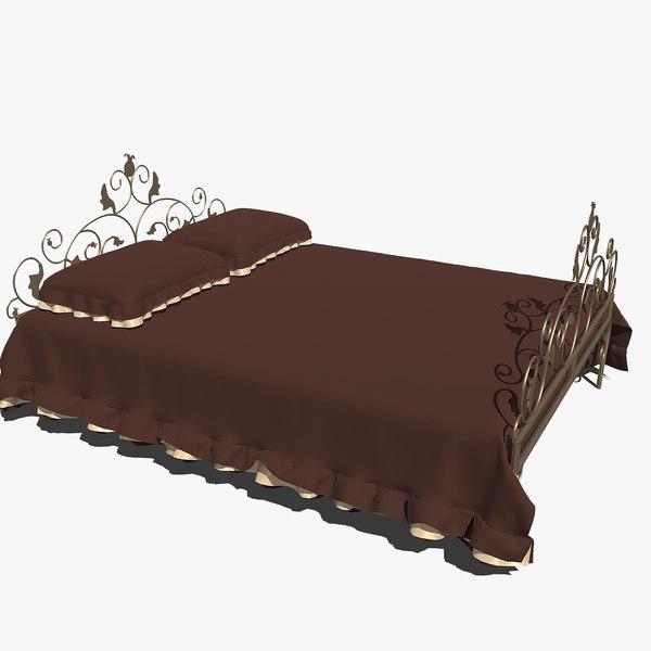 3d forged bed 3v model