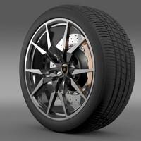 lamborghini aventador roadster wheel obj