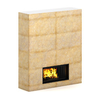 large fireplace 3d model