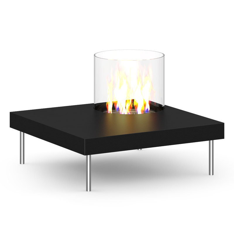 table gas fireplace