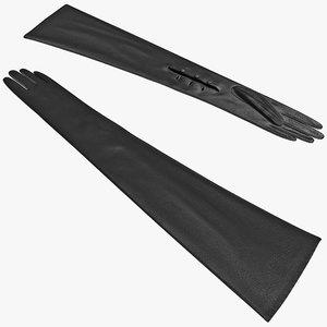 dress gloves 3d model