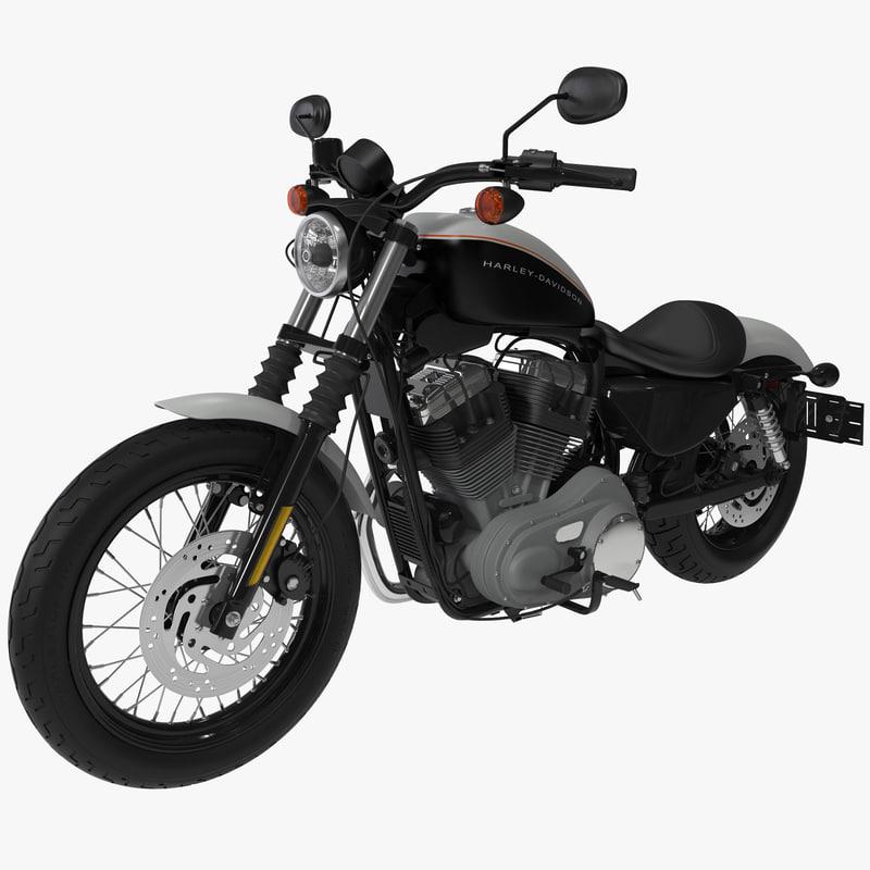harley davidson xl 1200n 3d model
