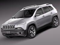 2014 jeep cherokee 3d model