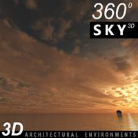 Sky 3D Sunset 006