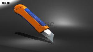 snap-off knife 3d model
