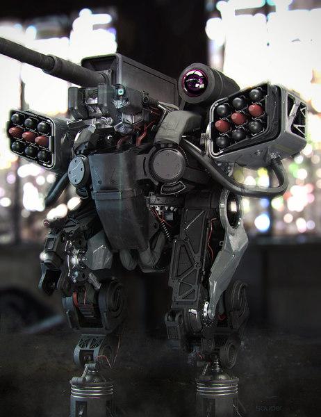 mech robotics machine obj