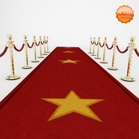 3d red carpet velvet rope