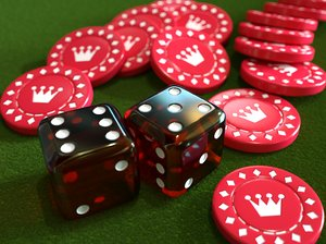 3d casino dice chip