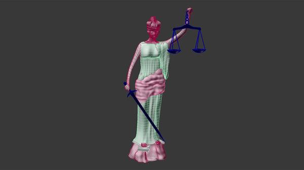 3dsmax justice sculpture doris