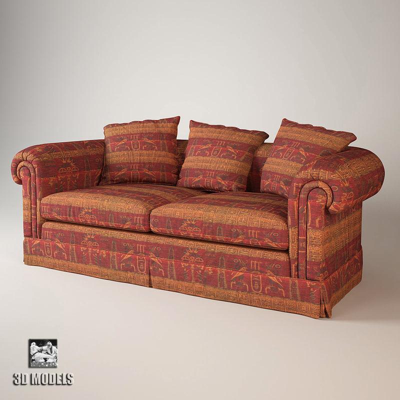 3d model maximus sofa