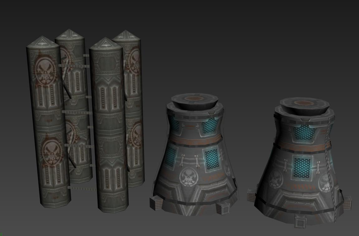 3d pack sci-fi machine model