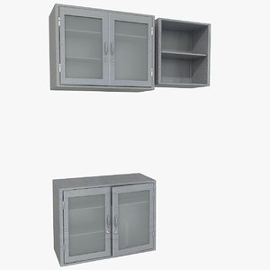 3d medical metal cabinet