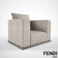 Fendi Casa Memoire armchair 3D model
