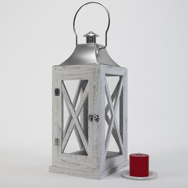 lantern door candle obj