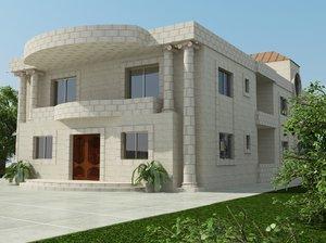 3d modern villa