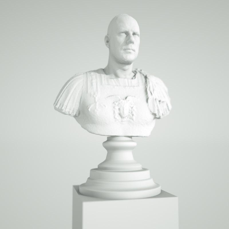 self statue 3d obj