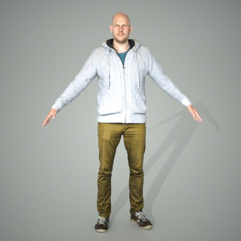 man standard pose 3d obj
